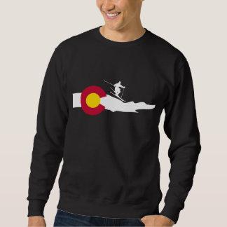 Colorado Ski Skiing Flag Sweatshirt