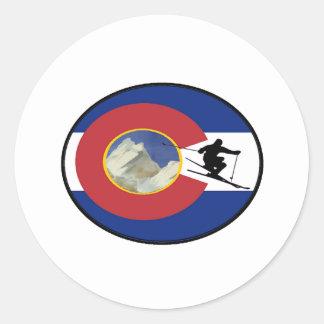 COLORADO SKI TIME CLASSIC ROUND STICKER