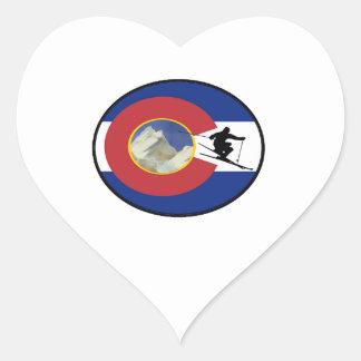 COLORADO SKI TIME HEART STICKER