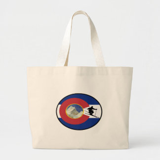 COLORADO SKI TIME LARGE TOTE BAG