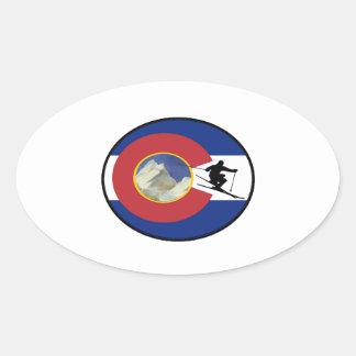 COLORADO SKI TIME OVAL STICKER