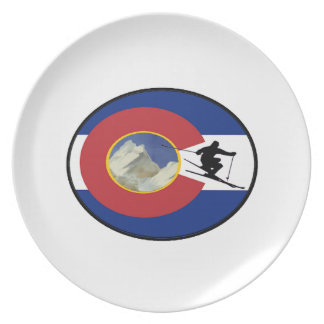 COLORADO SKI TIME PLATE