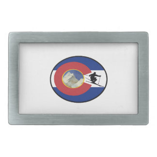 COLORADO SKI TIME RECTANGULAR BELT BUCKLES