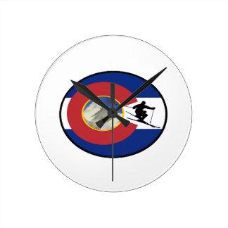 COLORADO SKI TIME ROUND CLOCK