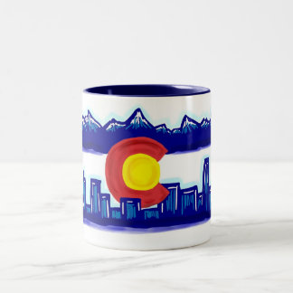 Colorado skyline mug