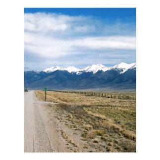 Colorado Snow Mountais Letterhead