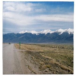 Colorado Snow Mountais Napkin