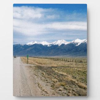 Colorado Snow Mountais Plaque
