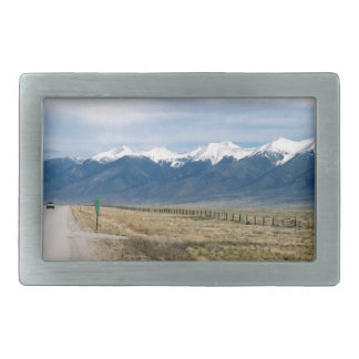 Colorado Snow Mountais Rectangular Belt Buckles