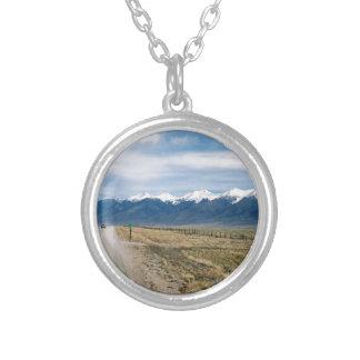 Colorado Snow Mountais Silver Plated Necklace