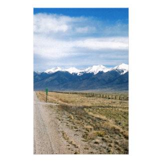 Colorado Snow Mountais Stationery