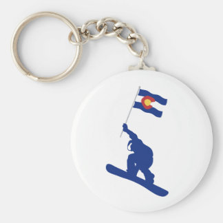 Colorado Snowboard Flag Keychain