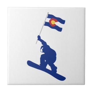 Colorado Snowboard Flag Tile