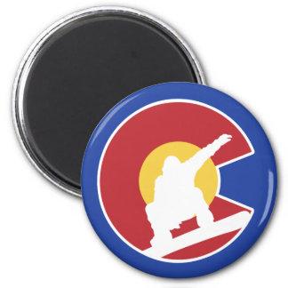 Colorado Snowboard Magnet