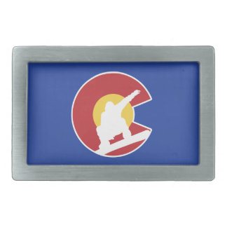 Colorado Snowboard Rectangular Belt Buckle