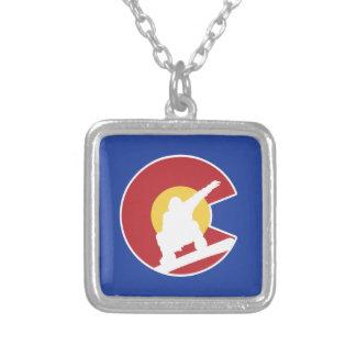 Colorado Snowboard Silver Plated Necklace