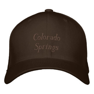 Colorado Springs Embroidered Hat