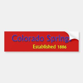 Colorado Springs Established Bumper Sticker