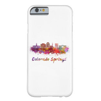 Colorado Springs V2 skyline in watercolor Barely There iPhone 6 Case