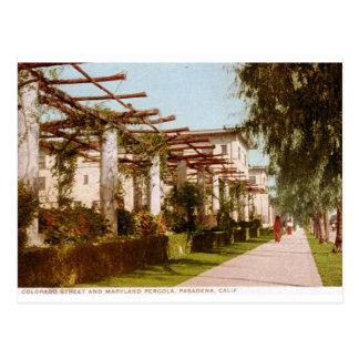Colorado St., Pasadena, CA Vintage Postcard