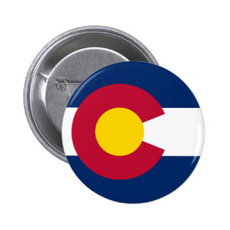 Colorado State Flag 2 Inch Round Button