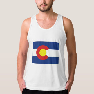 Colorado State Flag and Map Tank Top
