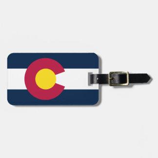 Colorado State Flag Bag Tag