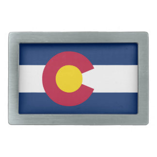 Colorado State Flag Belt Buckles