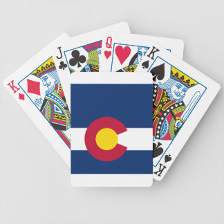 Colorado State Flag Bicycle Playing Cards