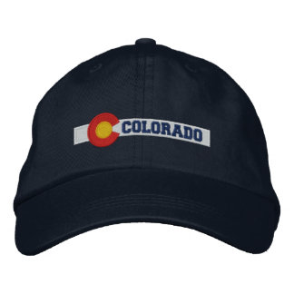 Colorado State Flag Design Embroidered Baseball Cap
