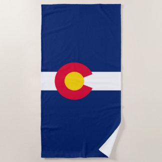 Colorado State Flag Design on a Beach Towel