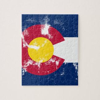 Colorado State Flag Grunge Jigsaw Puzzle