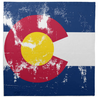Colorado State Flag Grunge Napkin