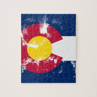 Colorado State Flag Grunge Puzzle