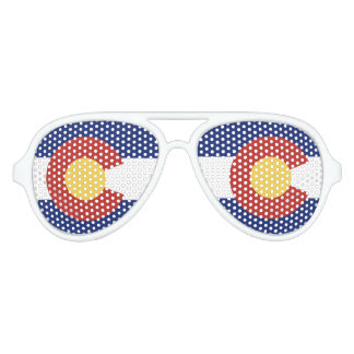 Colorado state flag party shades sunglasses