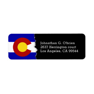 Colorado State Flag Personalized