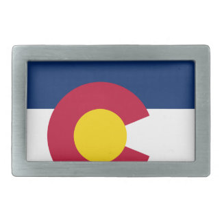 Colorado State Flag Rectangular Belt Buckle