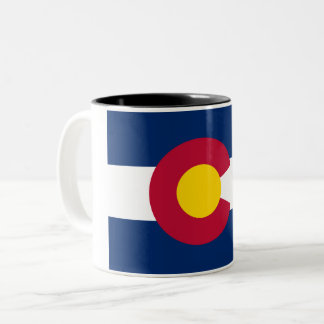 Colorado State Flag Two-Tone Coffee Mug