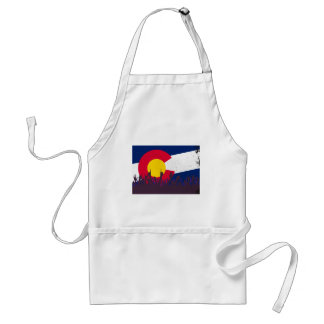 Colorado State Flag with Audience Standard Apron