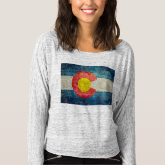 Colorado State flag with vintage retro grungy look Tee Shirts