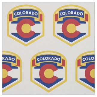 COLORADO STATE FLAG zazzle Fabric
