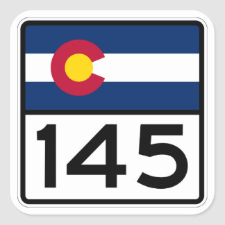 Colorado State Highway 145 Square Sticker