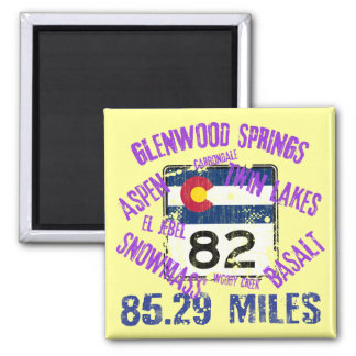 Colorado State Highway 82 Square Magnet