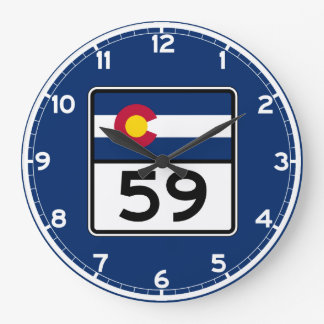 Colorado State Route 59 Wall Clock