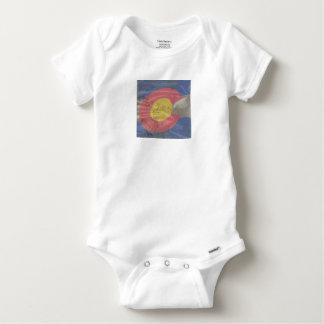 Colorado State Silk Flag Baby Onesie