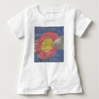Colorado State Silk Flag Baby Romper