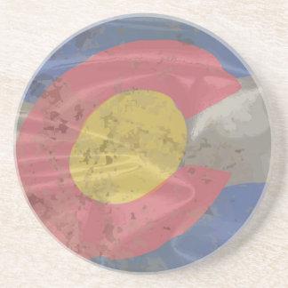 Colorado State Silk Flag Coasters
