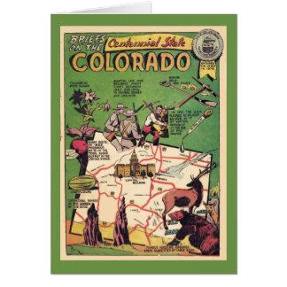 Colorado the Centennial State Card