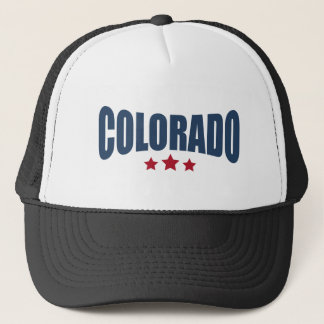 Colorado Three Stars Design Trucker Hat