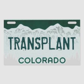 Colorado transplant artistic license plate sticker